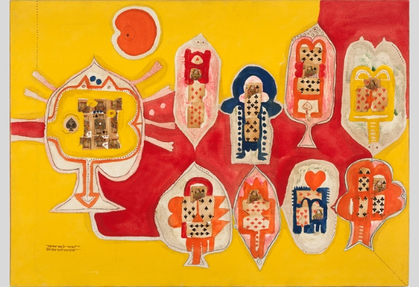 Prabhakar Barwe, King and Queen of Spades, 1967